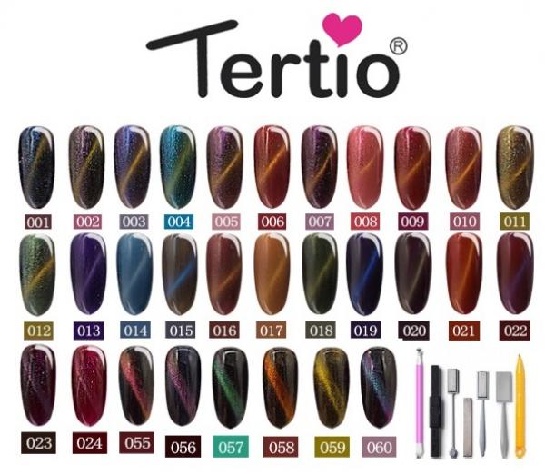 """Шеллак """"Tertio"""" 3D-Кошачий глаз, № 09"""