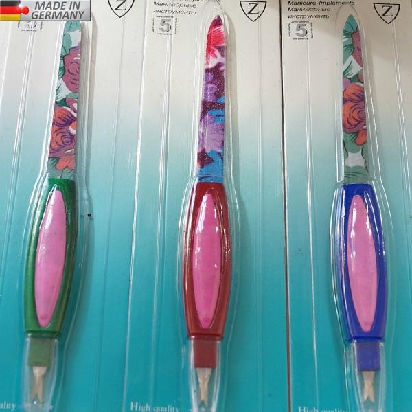 Металлическая пилка (8 см) + триммер GERMANY, # 8105P-5P