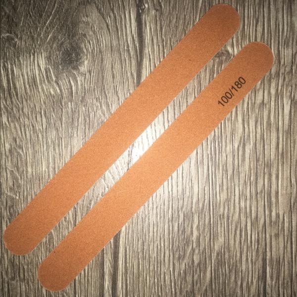 Пилка коричневая ТОНКАЯ (на деревянной основе), 100/180 грит