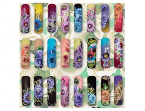 рисунки +на ногтях акриловыми красками