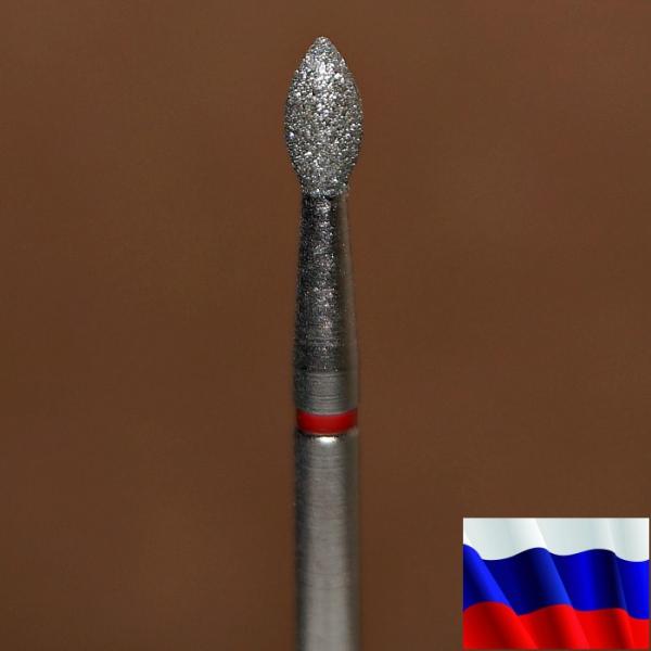 """Алмазная фреза """"ПОЧКА"""" (красная), d=2,5 мм"""