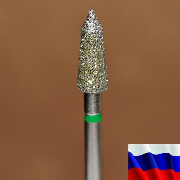 "Алмазная фреза ""ТОРПЕДА"" (зеленая), d=4,0 мм"