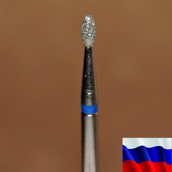 """Алмазная фреза """"ЯЙЦО"""" (синяя), d=1,8 мм"""