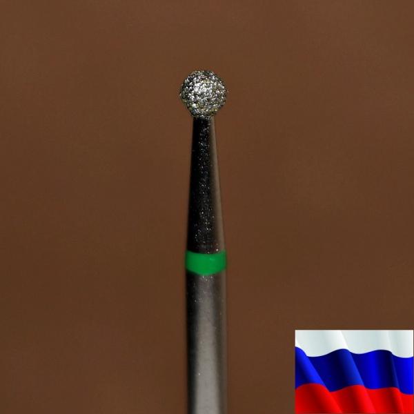"""Алмазная фреза """"ШАРИК"""" (зеленая), d=2,5 мм"""