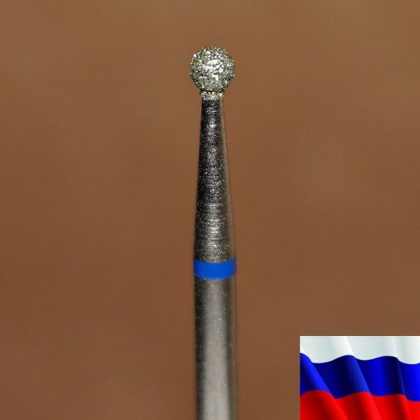"""Алмазная фреза """"ШАРИК"""" (синяя), d=2,5 мм"""