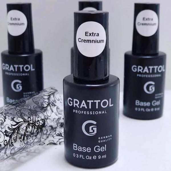 "GRATTOL Base Gel ""Extra Cremnium"", 9 мл."