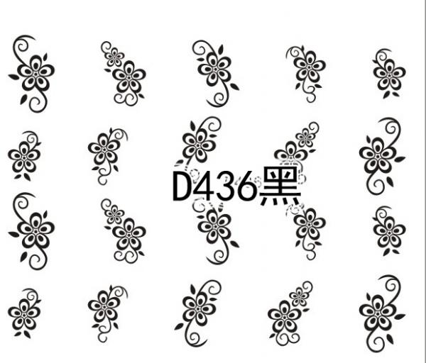 Наклейки черные, № D436
