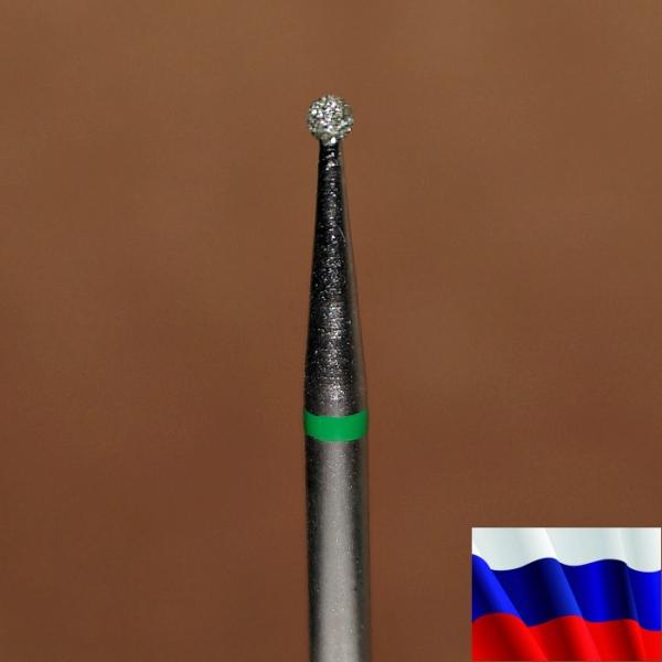 "Алмазная фреза ""ШАР"" (зеленая), d=1,6 мм"