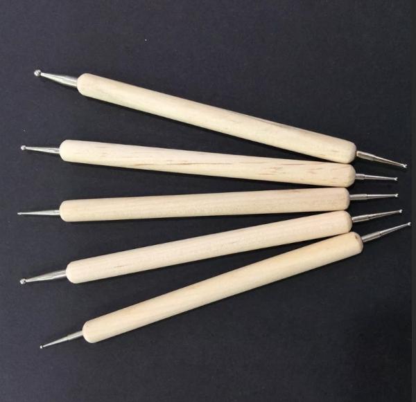 Набор дотсов (деревянная ручка), 5 штук
