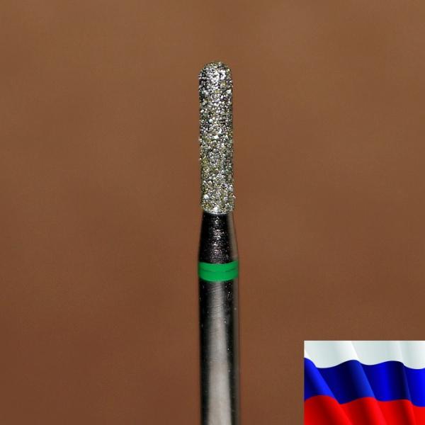 """Алмазная фреза """"ЦИЛИНДР закругленный"""" (зеленая), d=1,8 мм"""