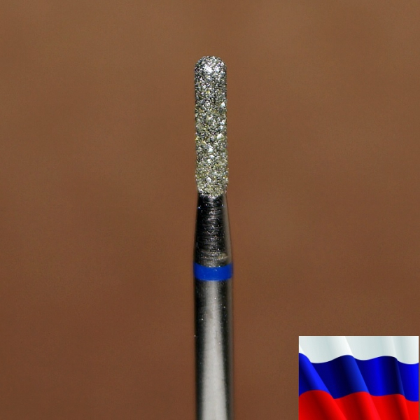 """Алмазная фреза """"ЦИЛИНДР закругленный"""" (синяя), d=1,8 мм"""