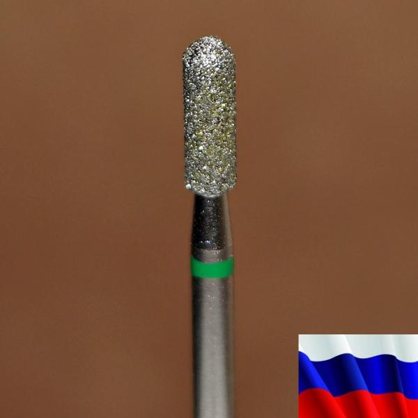"""Алмазная фреза """"ЦИЛИНДР закругленный"""" (зеленая), d=2,7 мм"""