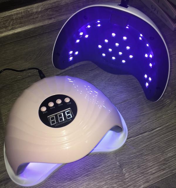 """UV+LED лампа """"SUN-5X-Plus"""" (розовая), 108 Вт"""