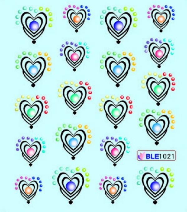 Наклейки цветные, № BLE1021