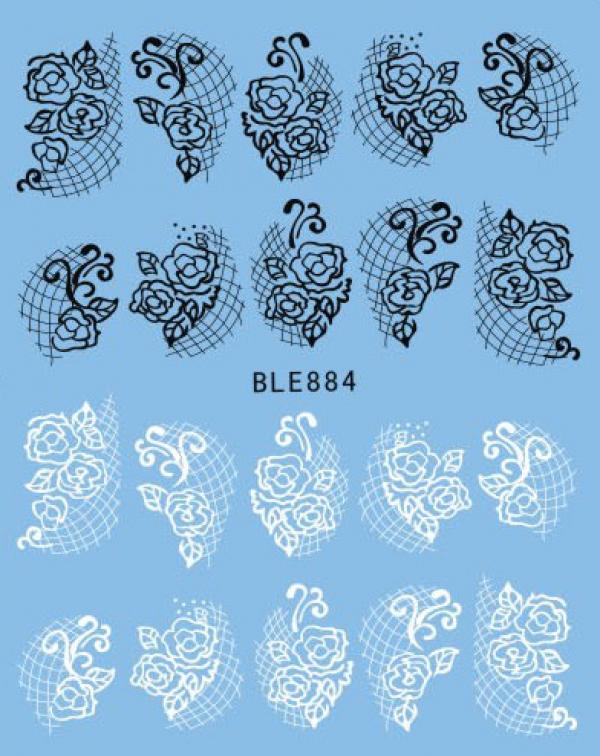 Наклейки черно-белые, № BLE884