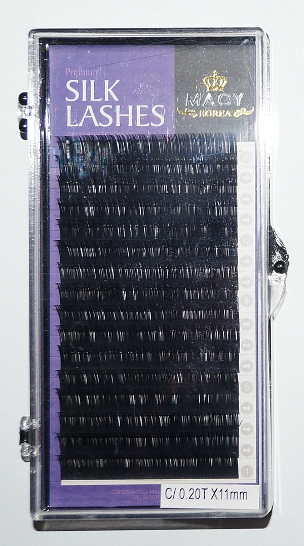 Ресницы MACY - SILK LASHES: С/0,20T * 11 мм (Корея)