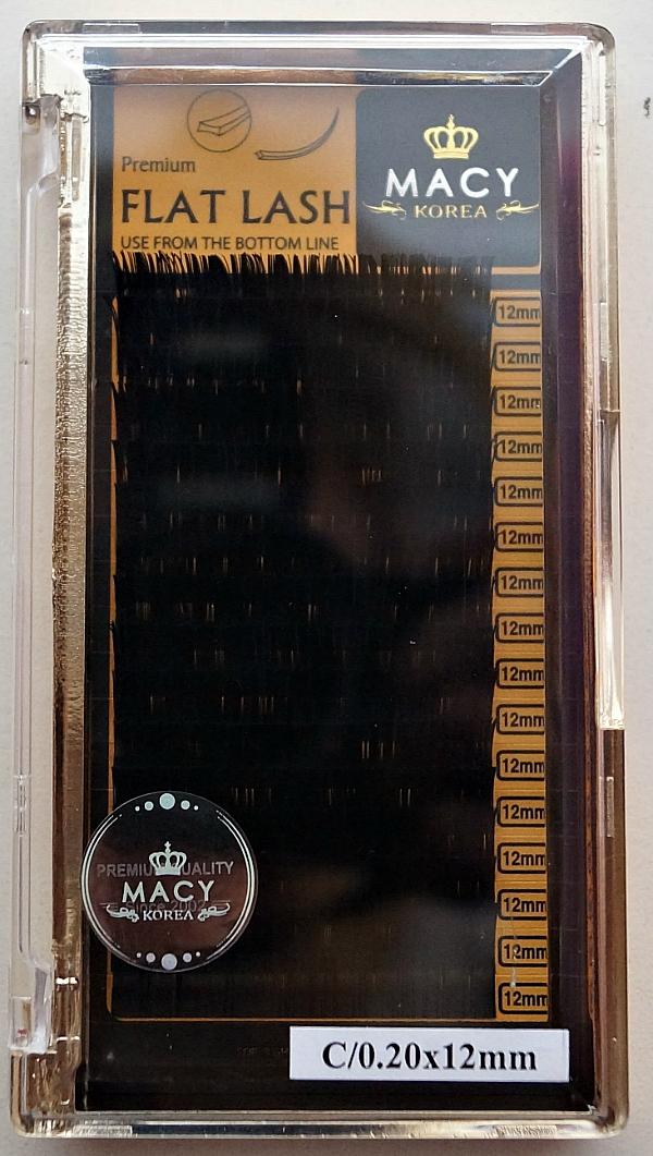 Ресницы MACY - FLAT LASH: С/0,20 * 12 мм (Корея)