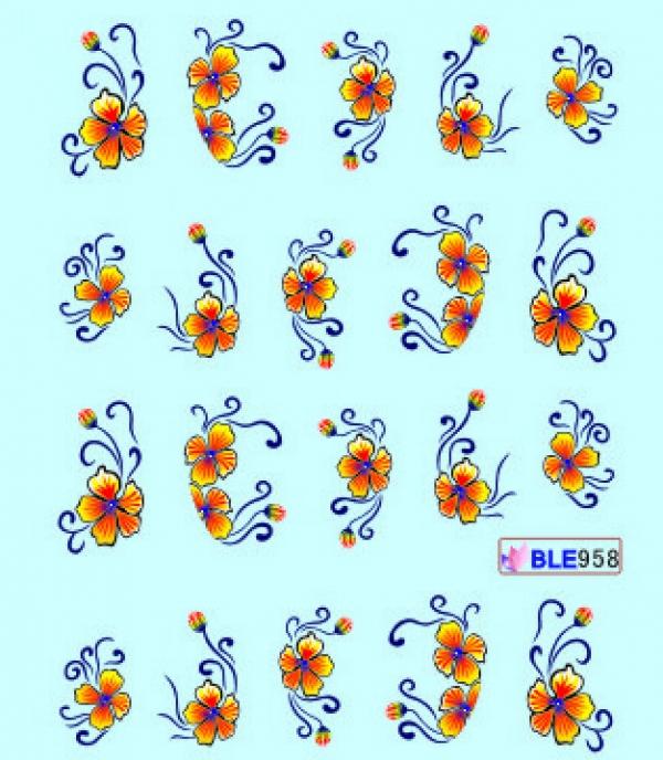Наклейки цветные, № BLE958