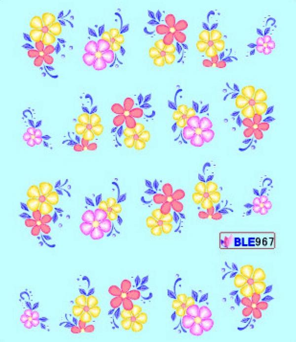 Наклейки цветные, № BLE967