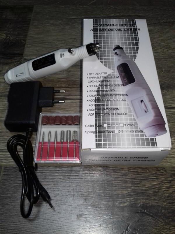 Машинка-ручка для маникюра (белая), 20 тыс. об/мин