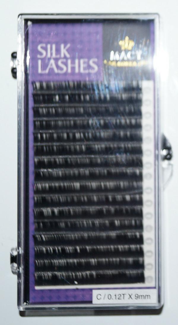 Ресницы MACY - SILK LASHES: С/0,12T * 9 мм (Корея)