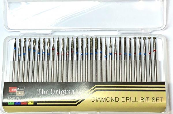"""Набор алмазных фрез """"ORIGINAL"""", 30 штук в пенале"""