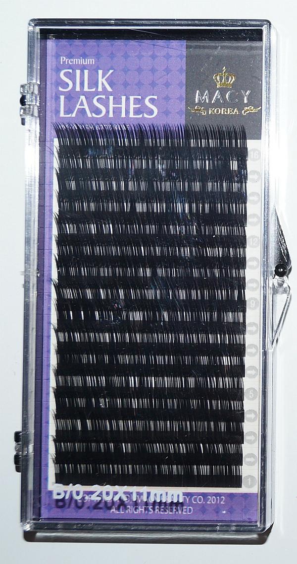 Ресницы MACY - SILK LASHES: B/0,20 * 11 мм (Корея)