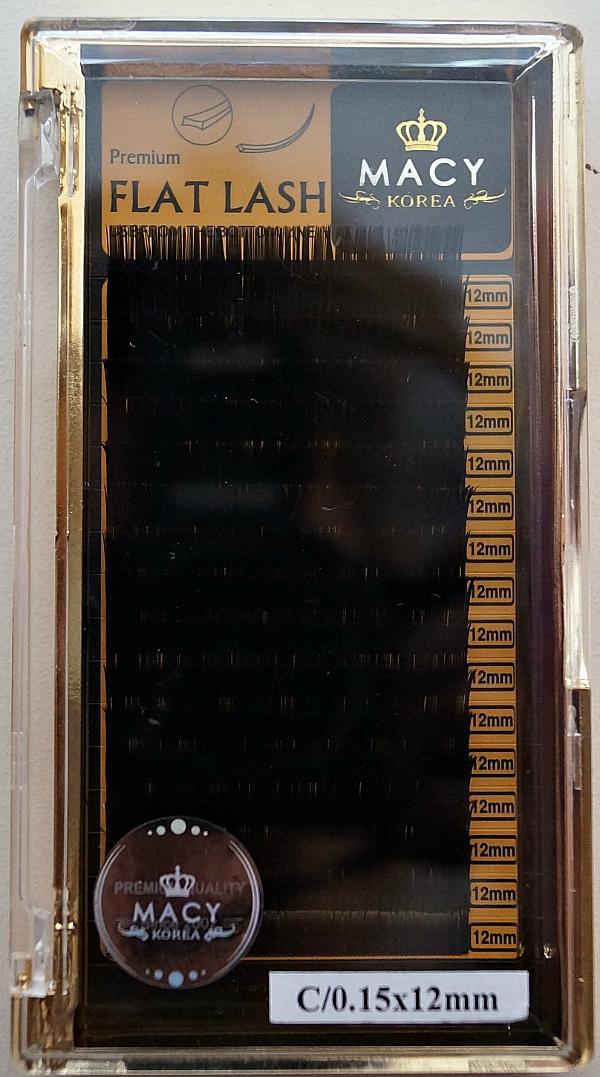 Ресницы MACY - FLAT LASH: С/0,15 * 12 мм (Корея)