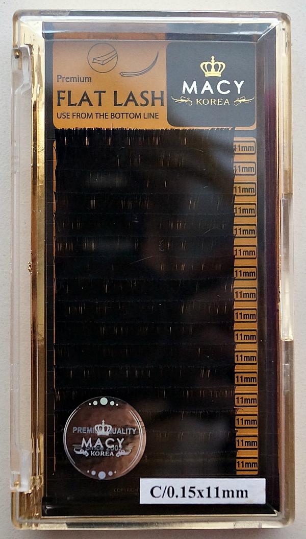 Ресницы MACY - FLAT LASH: С/0,15 * 11 мм (Корея)
