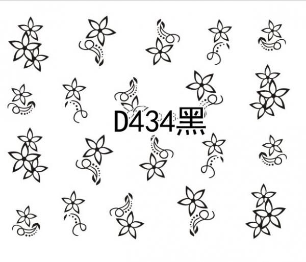 Наклейки черные, № D434