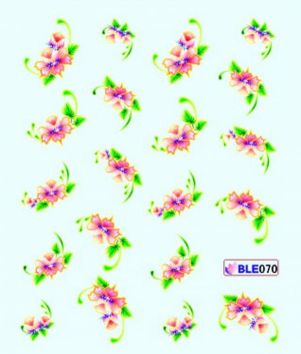 Наклейки цветные, № BLE070