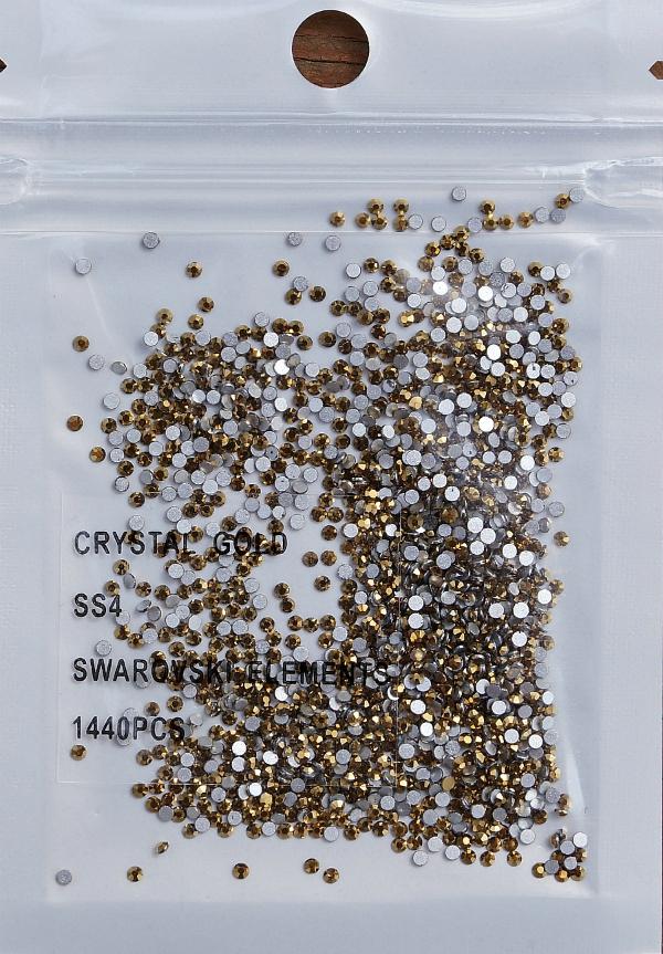 Стразы Swarovski ЗОЛОТО SS4 - 1,6 мм (в упаковке 1400 штук)