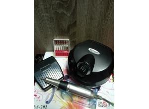 Аппарат для маникюра и педикюра US-202 (черный), 35 тыс. об/мин