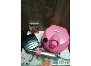 Аппарат для маникюра и педикюра US-202 (розовый), 35 тыс. об/мин