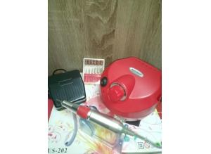 Аппарат для маникюра и педикюра US-202 (красный), 35 тыс. об/мин