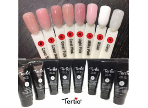 """Акригель - Полигель """"Tertio"""" Milky-pink #3, 30 гр."""