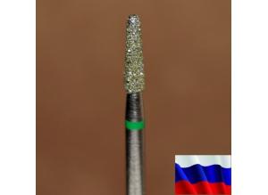 """Алмазная фреза """"КОНУС закругленный"""" (зеленая), d=2,5 мм"""