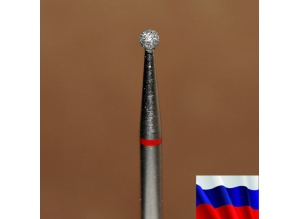 """Алмазная фреза """"ШАР"""" (красная), d=2,1 мм"""