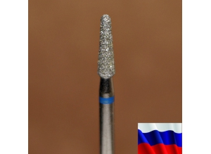 """Алмазная фреза """"КОНУС закругленный"""" (синяя), d=2,5 мм"""