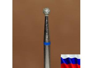 "Алмазная фреза ""ШАР"" (синяя), d=2,5 мм"