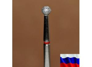 """Алмазная фреза """"ШАРИК"""" (красная), d=3,1 мм"""