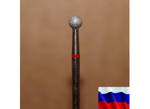 """Алмазная фреза """"ШАР"""" (красная), d=4,0 мм"""