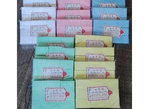 Салфетки безворсовые ЦВЕТНЫЕ 4*6 см, 1000 штук в пакете