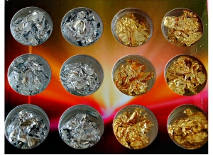 ФОЛЬГА (золото + серебро), 12 шт/набор