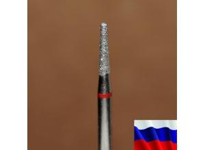 """Алмазная фреза """"КОНУС закругленный"""" (красная), d=1,8 мм"""