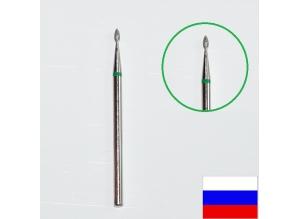 """Алмазная насадка """"КАПЛЯ"""", d=1,4 мм (зеленая)"""