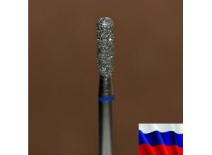 """Алмазная фреза """"ЦИЛИНДР закругленный"""" (синяя), d=2,5 мм"""