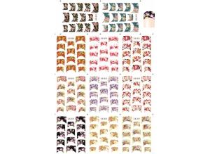 Наклейки цветные № B067-077, 11 штук на листе