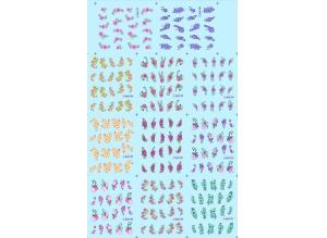 Наклейки цветные № BLE1137-1147, 11 штук на листе