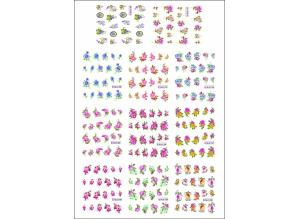 Наклейки цветные № BLE1720-1730, 11 штук на листе
